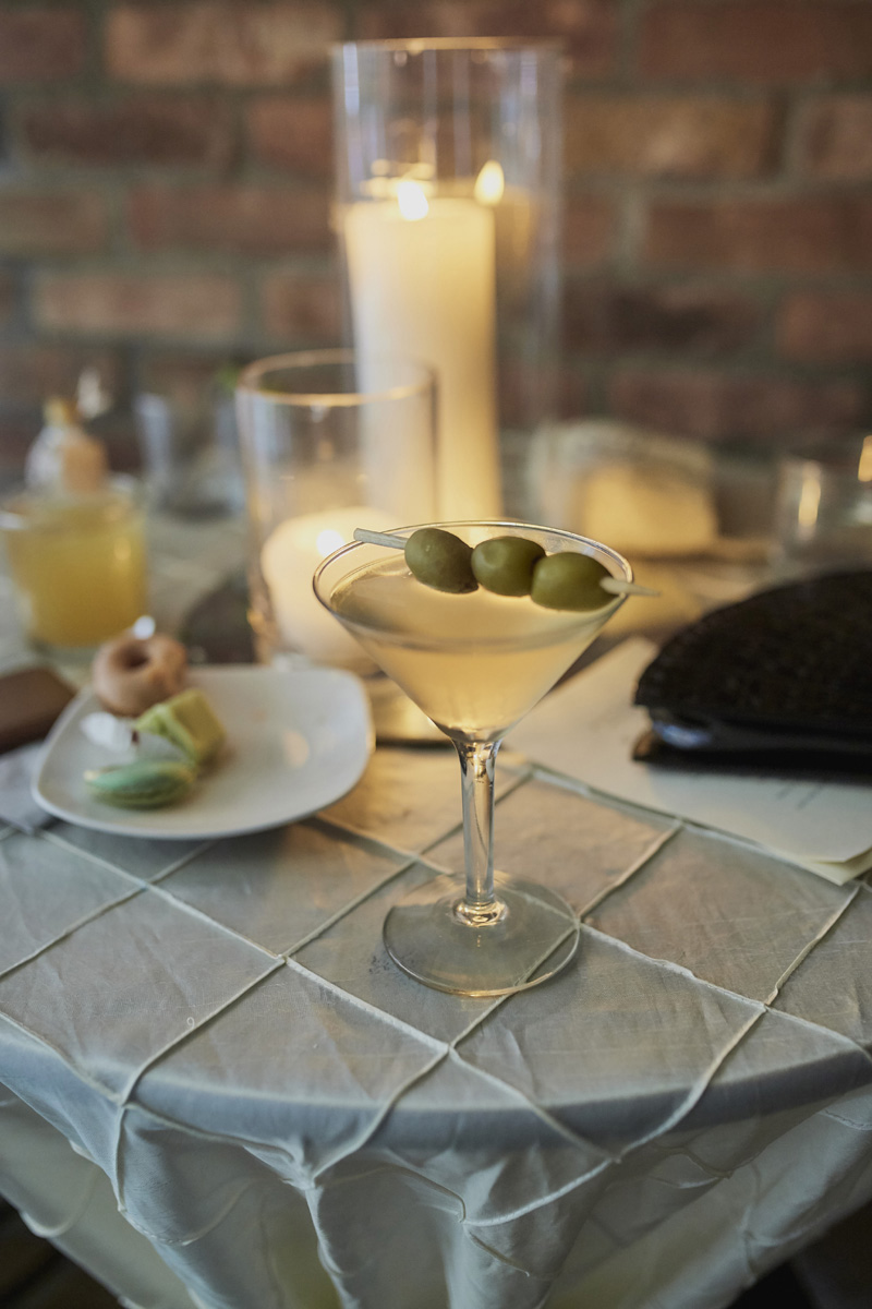 cocktail with olives, wedding photography