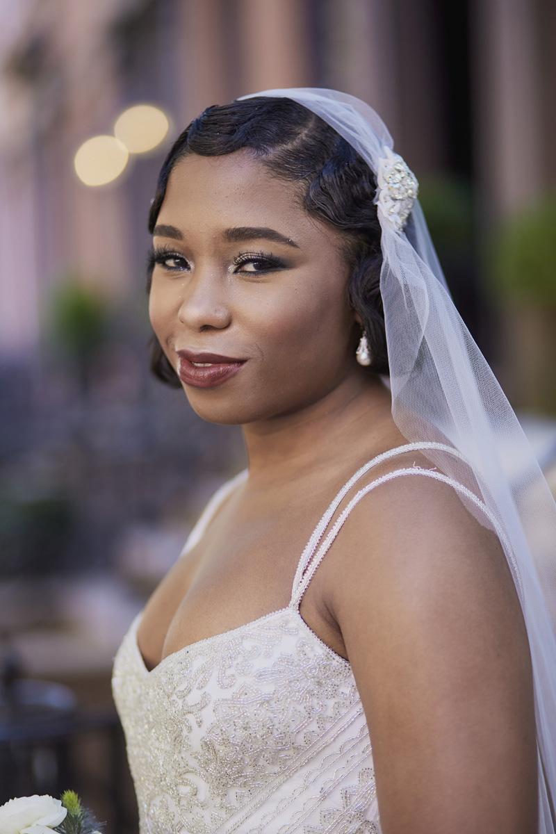 bride in the wedding dress,