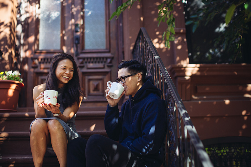 Brooklyn brownstone engagement