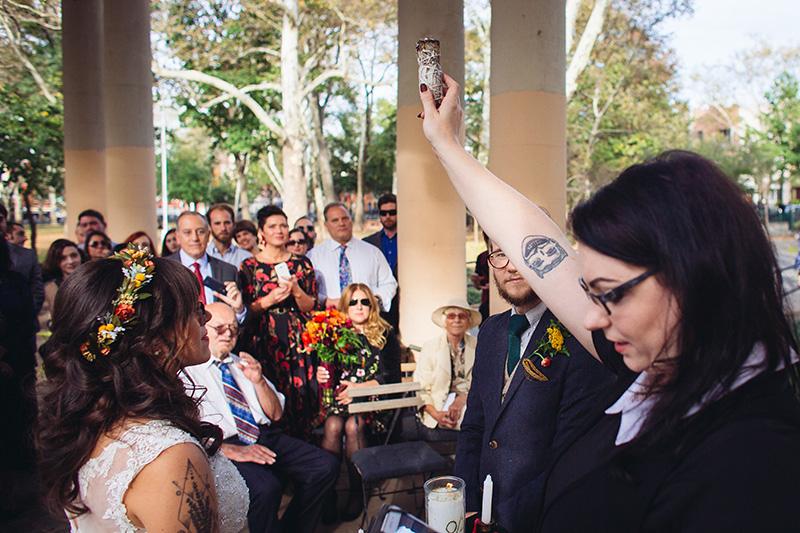 McGolrick park wedding ceremony