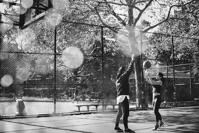 basketball playing engagement sesstion