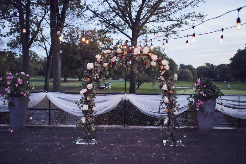 wedding decoration at Dyker Beach Golf Course Wedding