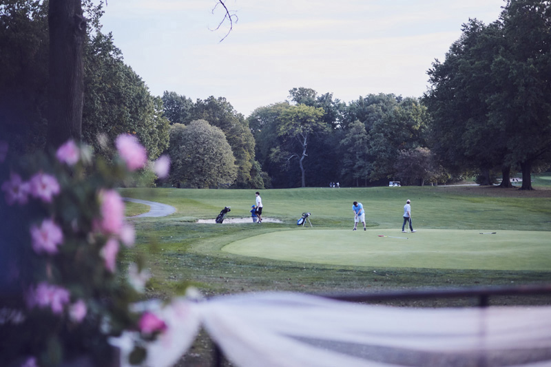 golfers at Dyker Beach Golf Course