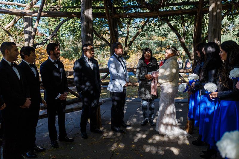 Cop Cot elopement ceremony