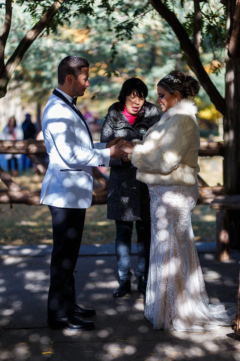 Cop Cot Central Park elopement ceremony