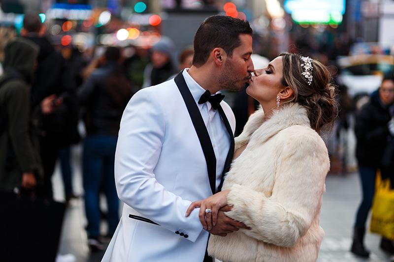 Times Square wedding