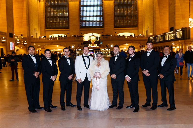 Bridal party at Grand Central