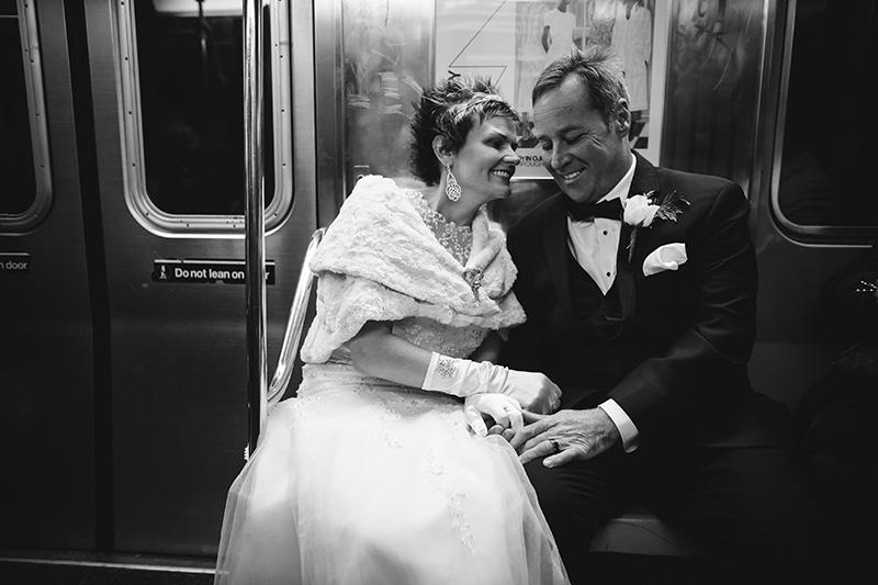 Subway elopement photography