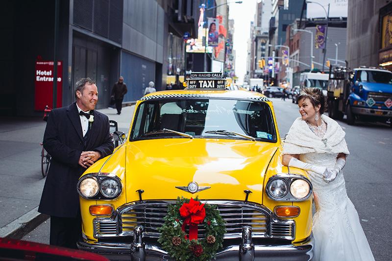 Vintage NYC taxi