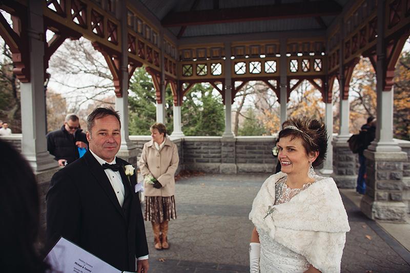 Belvedere Castle elopement ceremony