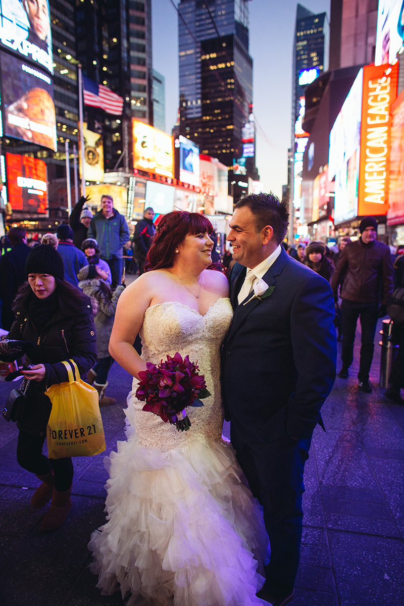 NYC Times Square elopement
