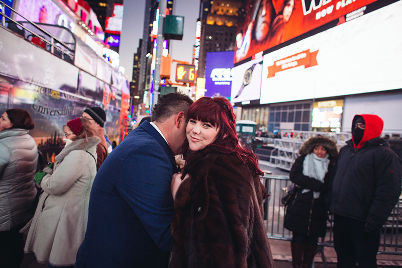 NYC Times Square wedding