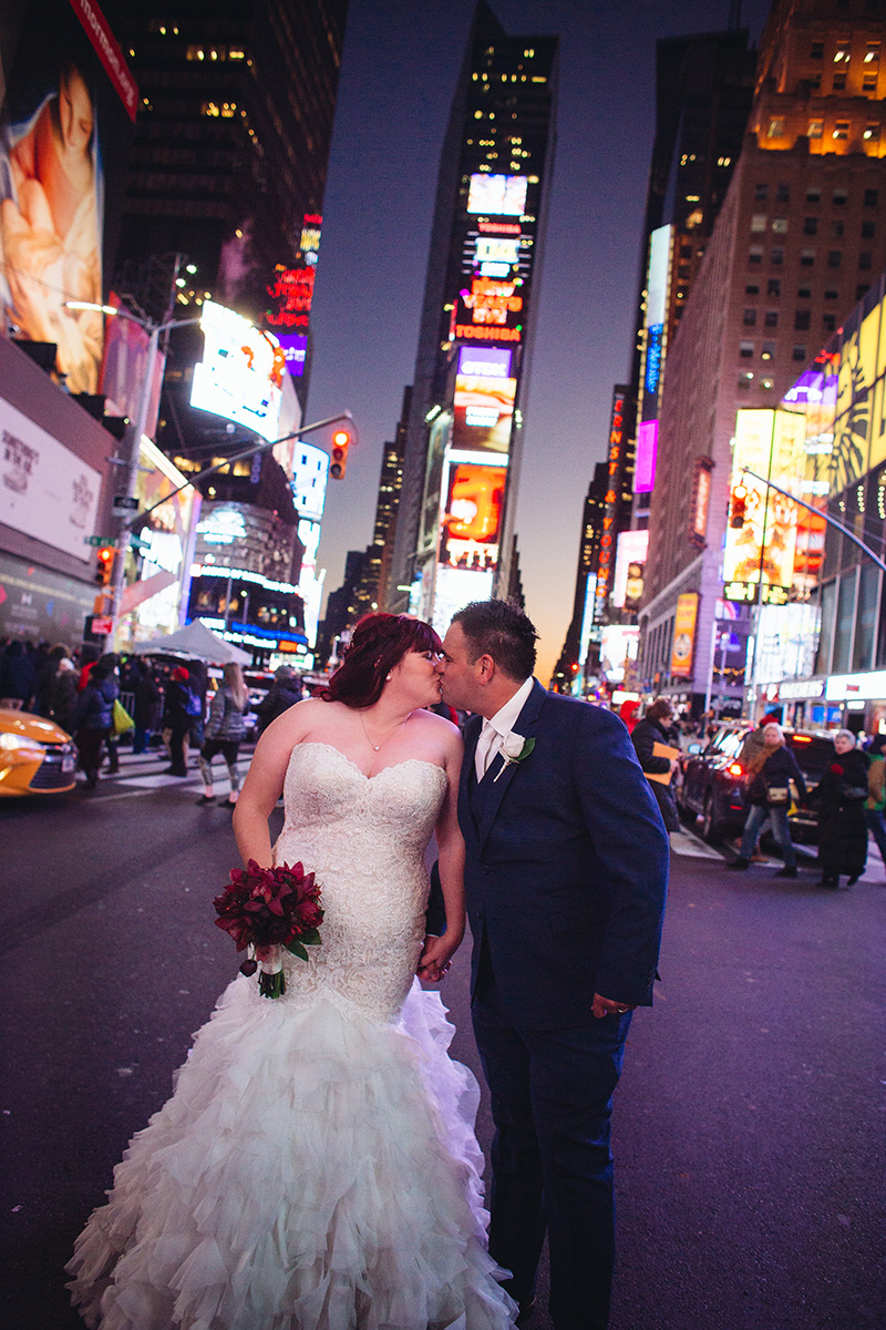 Times Square wedding photos