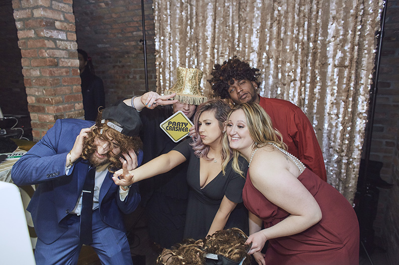 photo booth at wedding reception
