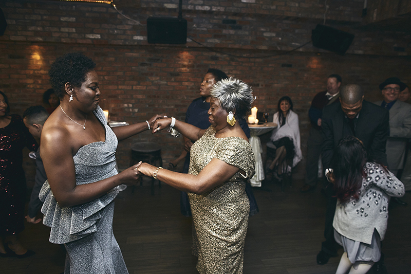 Dancing at the party after wedding