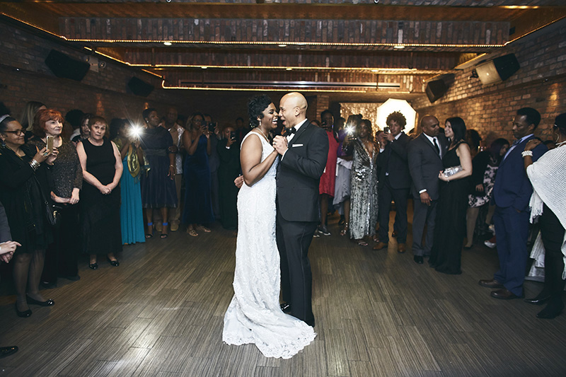Brides and grooms wedding dance