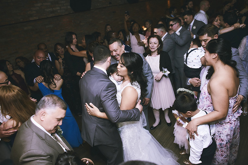 Bride and groom dancing photography