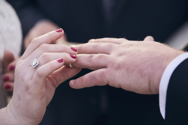 putting the ring on grooms finger