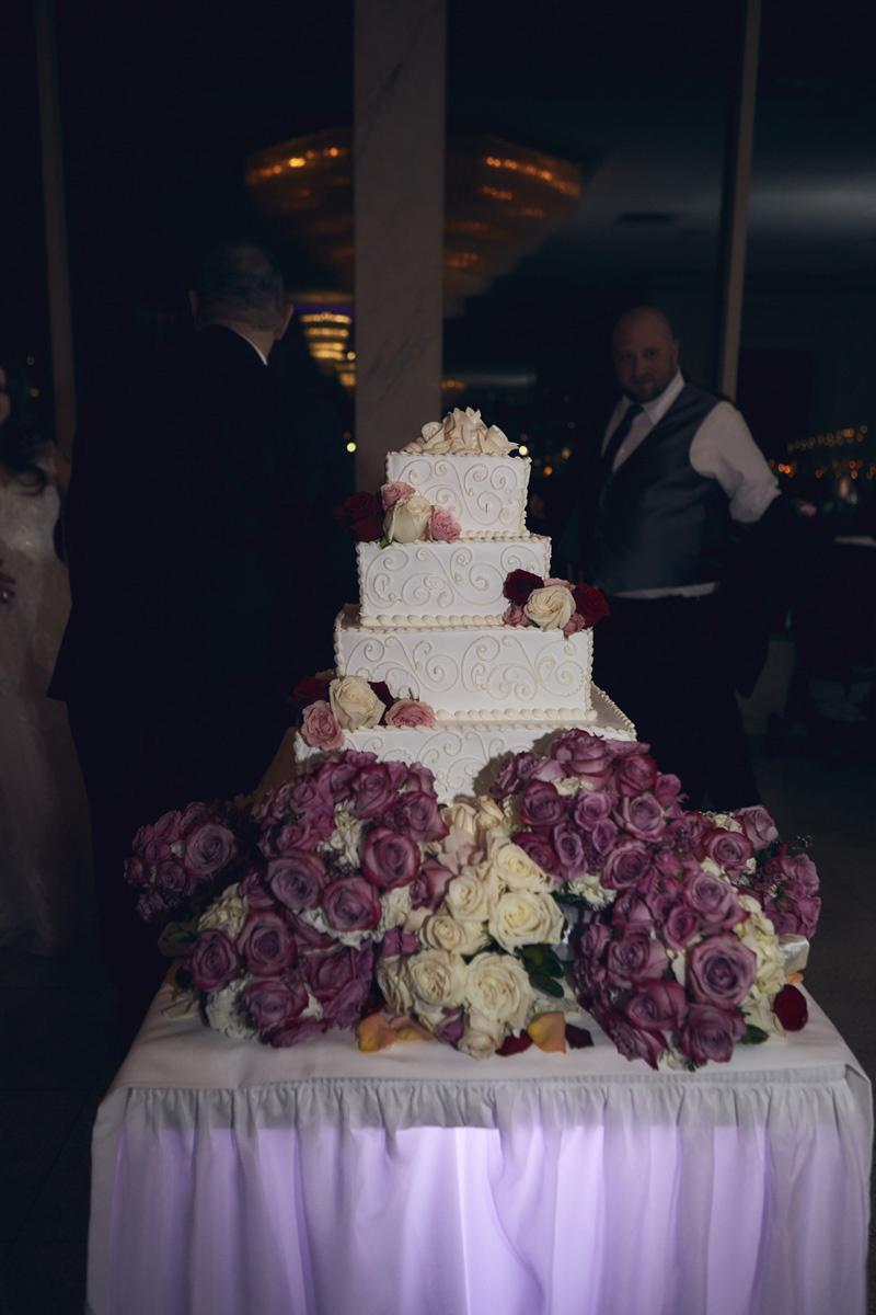wedding cake at wedding party