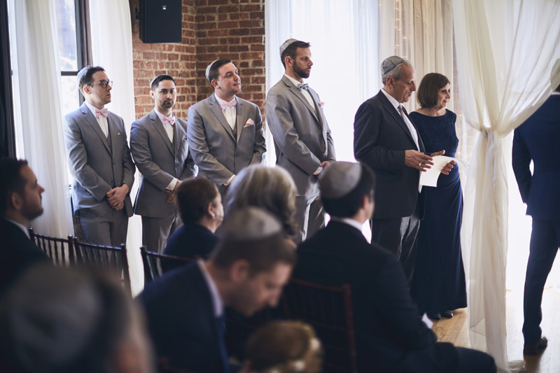 groomsmen at the wedding ceremony