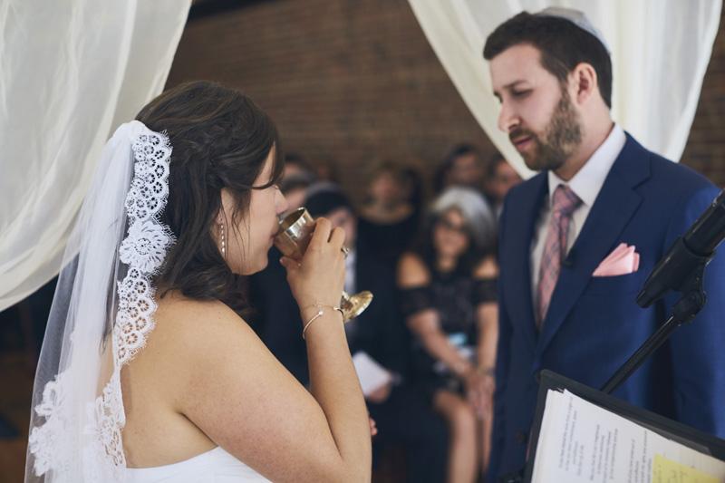 NYC jewish wedding ceremony