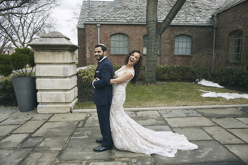 First look photography at the Orthodox Jewish wedding