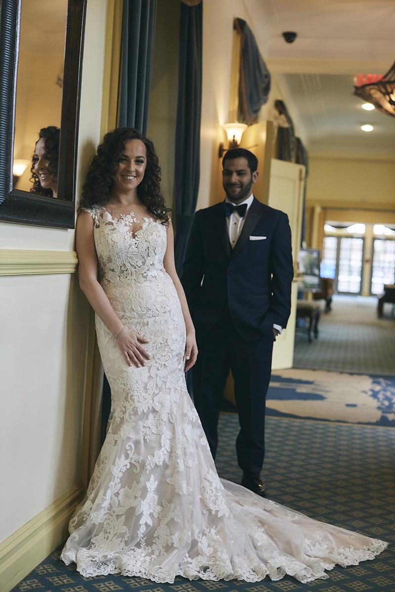 brides and grooms Orthodox Jewish wedding portrait