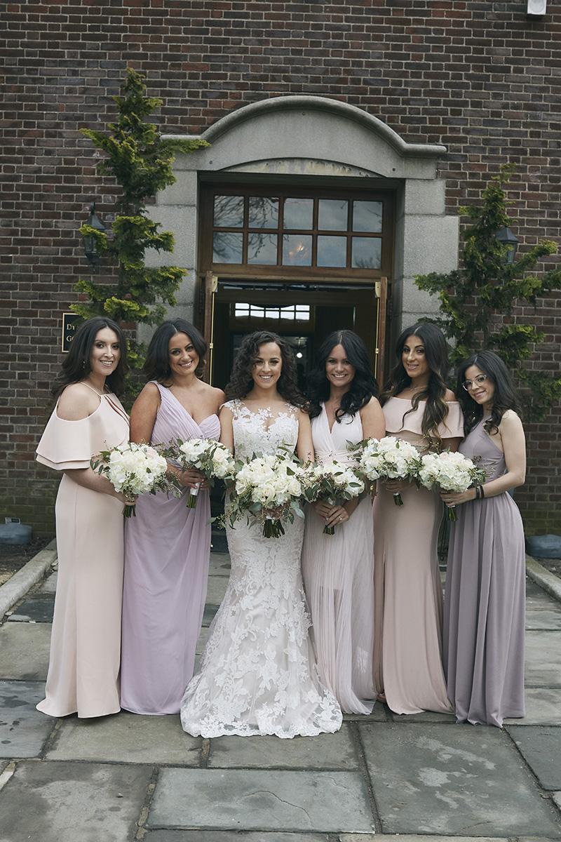 Bride with brides maids portrait