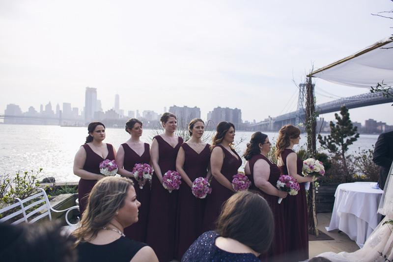 bridesmaids at the jewish wedding ceremony