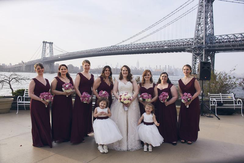 bride and brides maids portrait