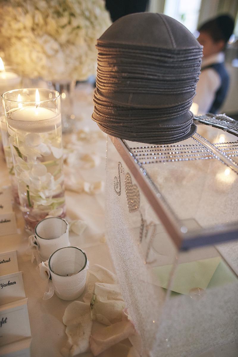 Table decoration for the  Orthodox Jewish wedding