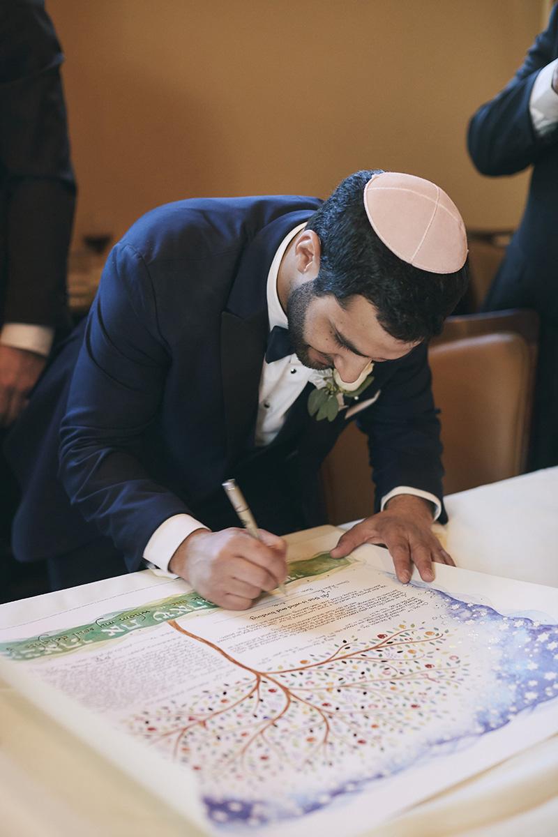 Orthodox Jewish groom photography