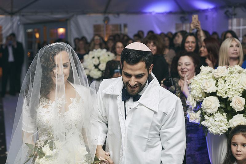 Orthodox Jewish wedding ceremony photography