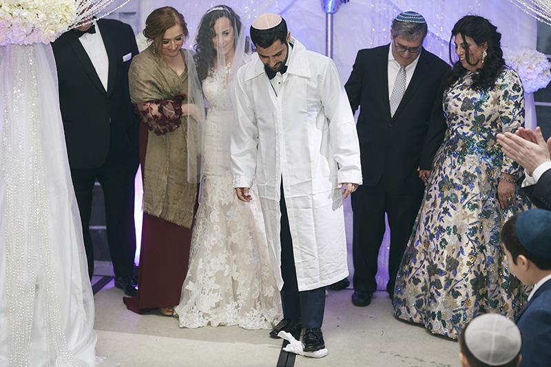 Orthodox Jewish groom at the wedding ceremony