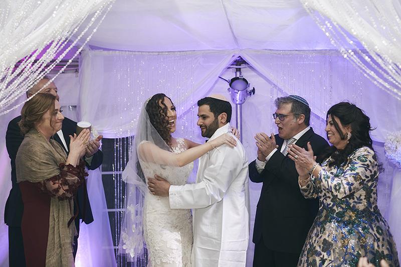 NYC Orthodox Jewish wedding ceremony
