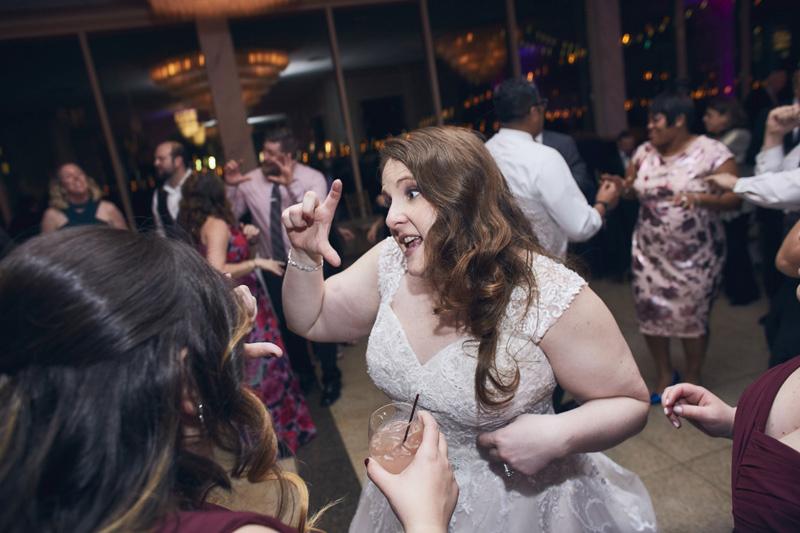 bride at wedding party