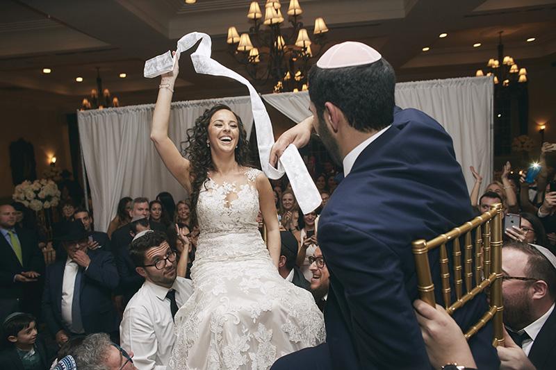 Orthodox Jewish wedding chair lift