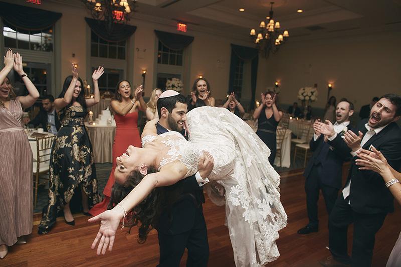 Orthodox Jewish wedding dancing