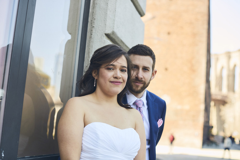 brides and grooms wedding portrait