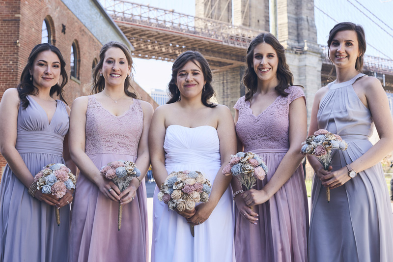 bride with brides maids
