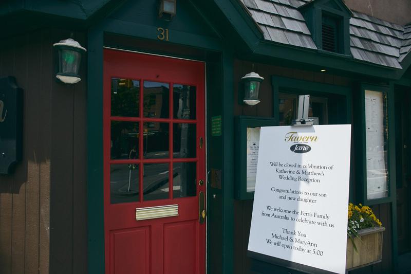 Tavern on Jane wedding