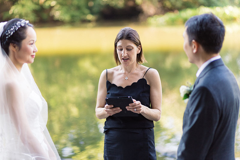 Central Park wedding officiant