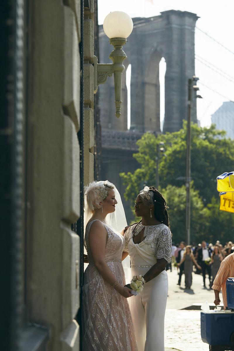 Brooklyn Bridge Park wedding photos