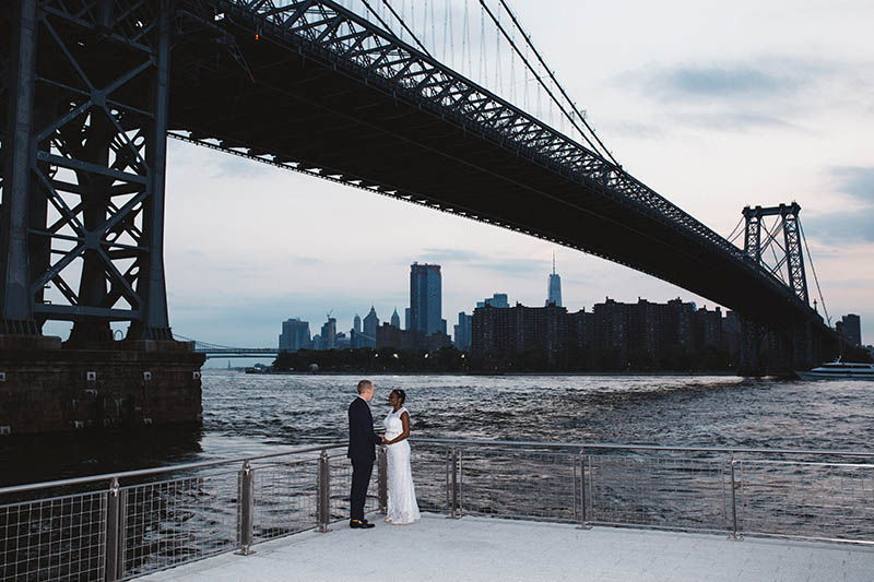 Domino Park wedding portraits