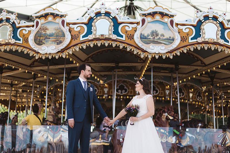 Janes carousel wedding portraits