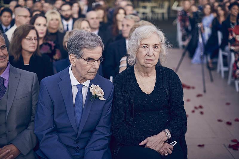 Wedding ceremony with NYC skyline