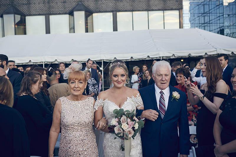 NYC skyline wedding ceremony