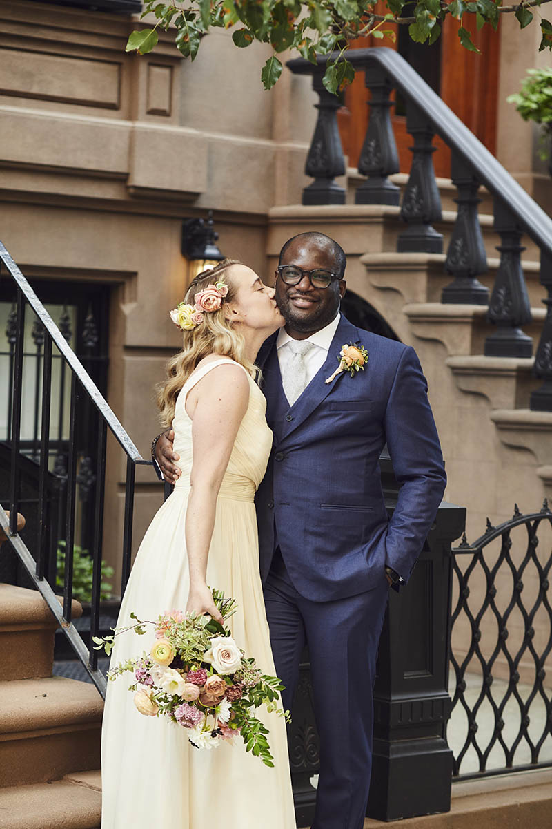 Interracial wedding portraits
