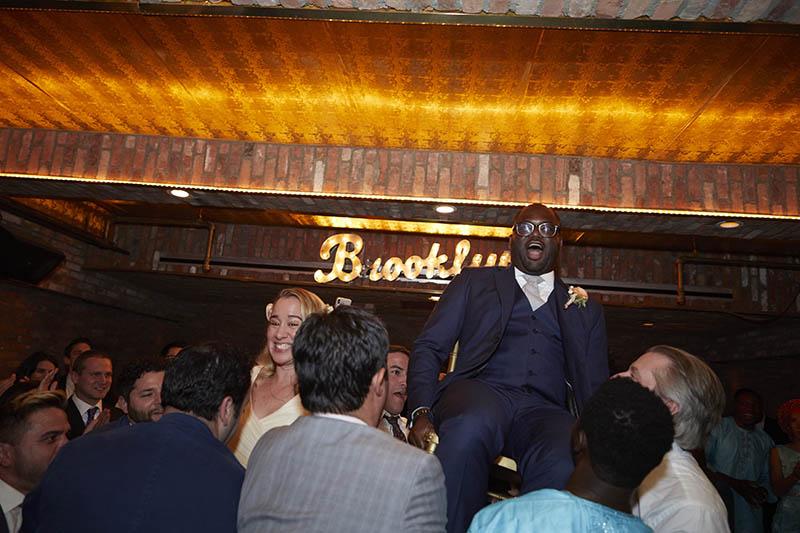Interracial wedding reception