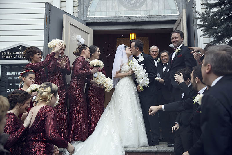 First wedding ceremony kiss